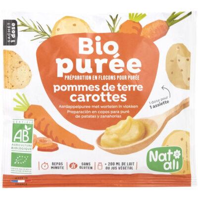 Пюре от картофи и моркови на прах – био, Nat-Ali, 30 г